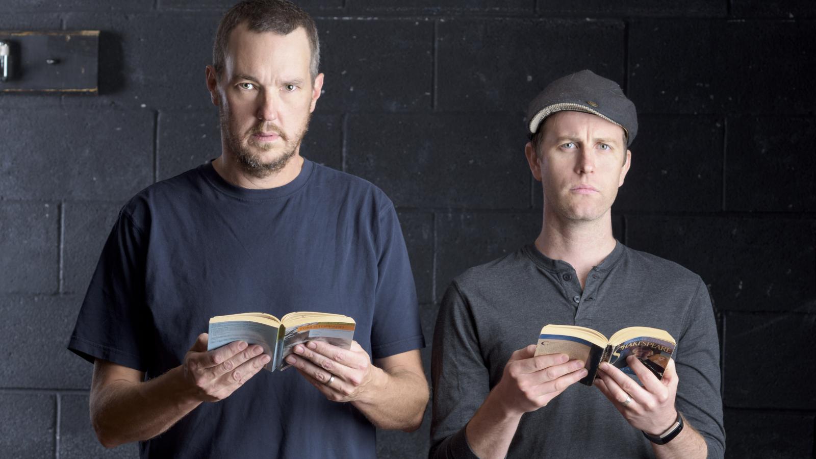 john harrell and chris johnston rosencrantz and guildenstern are dead american shakespeare center